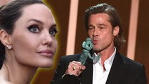 Angelina Jolie Reacts To Brad Pitt & Jennifer Aniston Reunion At SAG Awards