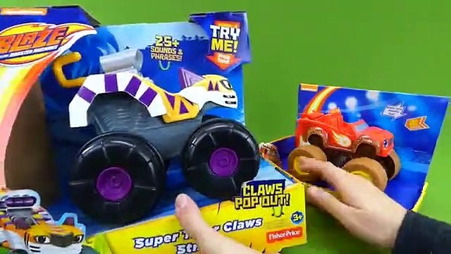 Blaze and the Monster Machines Toys Talking Mud Fest Blaze Super Tiger Claws Stripes Zeg and Darington