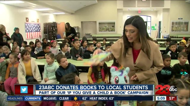 23ABC donates hundreds of books to local students