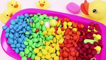 Learn Colors MandMs Chocolate Triple Baby Doll Bath Time and Ice Cream Cones Surprise Toys