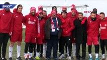 Fenomen simitçi Ahmet, Sivasspor antrenmanında