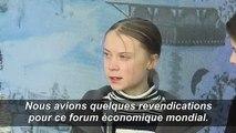 """Greta Thunberg: les revendications pour le climat ont été """"complètement ignorées"""" à Davos"""