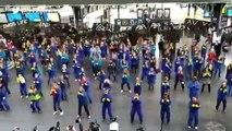 """""""A cause de Macron"""" : un flash-mob à la gare de l'Est par Attac"""