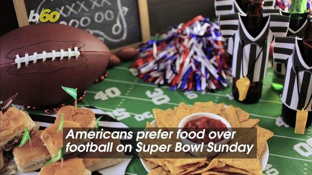 Americans Prefer Food Over Football on Super Bowl Sunday