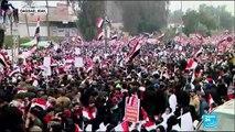 Contestation en Irak : Des centaines d'irakiens présents pour manifester contre la présence américaine