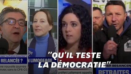 Macron refuse qu'on parle de dictature, ses adversaires lui répondent