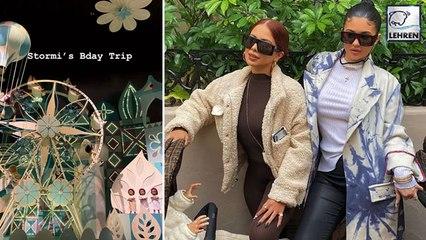 Kylie Jenner & Travis Scott Reunite For Stormi's Birthday Trip