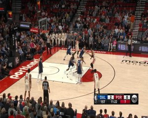 Damian Lillard drills three from the logo