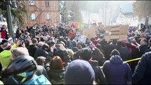 Davos'ta çevre protestosu
