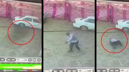 काली परछाई देखते ही निकल गया बुजुर्ग का दम, CCTV कैमरे में कैद हुई घटना