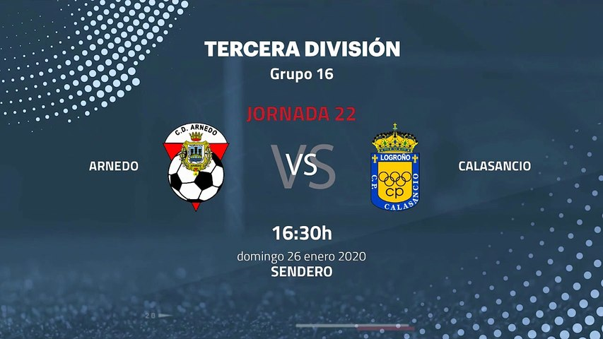 Previa partido entre Arnedo y Calasancio Jornada 22 Tercera División