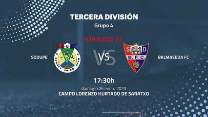 Previa partido entre Sodupe y Balmaseda FC Jornada 22 Tercera División