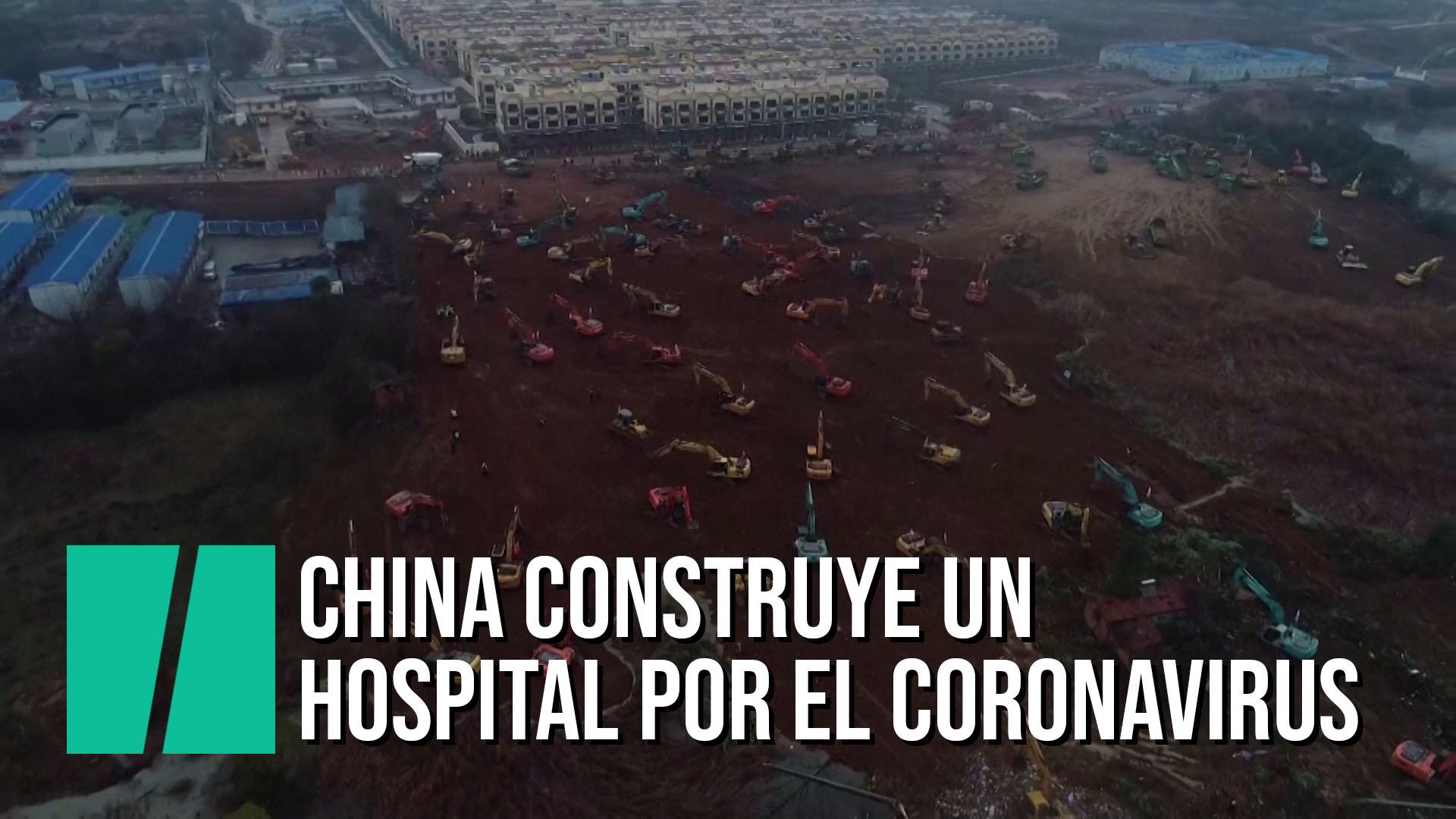 China construye un nuevo hospital para enfermos del coronavirus