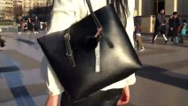 CAZACOZY grand sac a main de luxe en cuir PU Noir, Marron avec un chargeur intégré (PowerBank)