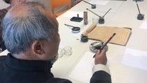 Premier cours de calligraphie, à Lisieux