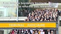 """Bordeaux: le """"Chant des partisans"""" adapté par les avocats en grève"""