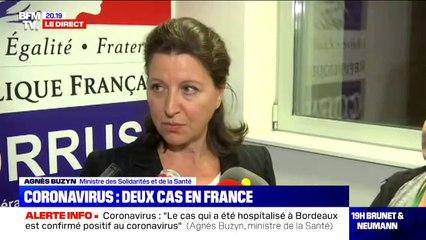 """Agnès Buzyn: """"pour les voyageurs qui rentrent de Chine, au moindre signe, il ne faut pas aller aux urgences mais appeler le centre 15"""""""
