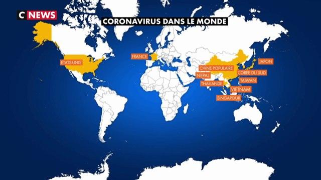 Coronavirus : le point sur la propagation de la maladie dans le monde