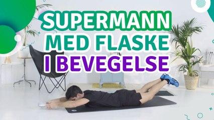 Supermann med flaske i bevegelse - Trenings Glede