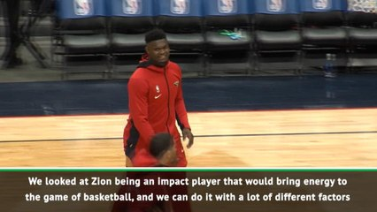You can already see Zion's passion - Jordan on his brand's newest star