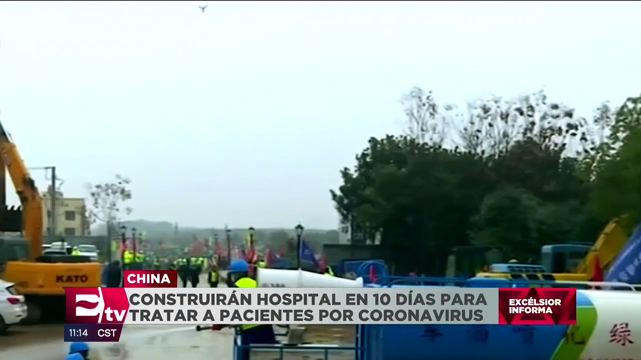 China construirá hospital para recibir a enfermos del coronavirus