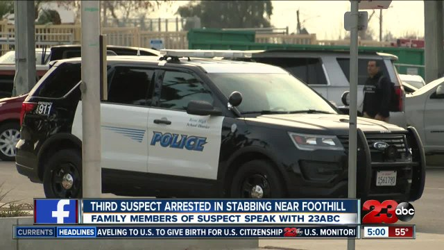 Third person arrested in stabbing near Foothill High