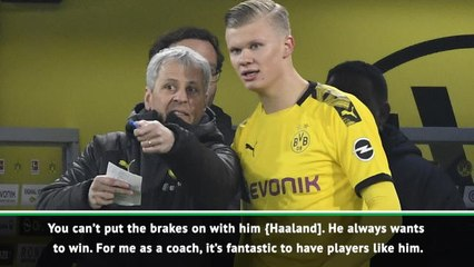 You can't hold back Haaland says Dortmund coach Favre after two more goals
