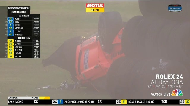 Michelin Pilot Challenge 2020 Daytona  Huge  Crash Flip Mustang