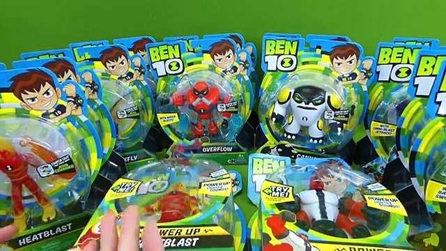 LOTS of Ben 10 Toys Figures Power Up Heat Blast Four Arms Omni Enhanced Cannonbolt Vilgax Aliens Toy