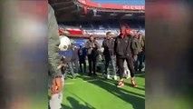 NBA - Giannis Antetokounmpo visiting the Parc des Princes