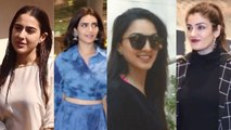 Sara Ali Khan, Karishma Tanna, Raveena Tandon Spotted around the Town