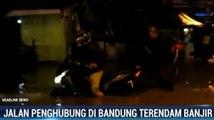 Jalan Penghubung Kabupaten dan Kota Bandung Terendam Banjir