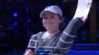 Laila Anderson introduces Blues at All-Star Game