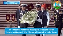 Republic Day 2020: In a first PM Narendra Modi pays tribute to fallen heroes at National War Memorial