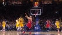 Alex Caruso and LeBron combine for breathtaking slam