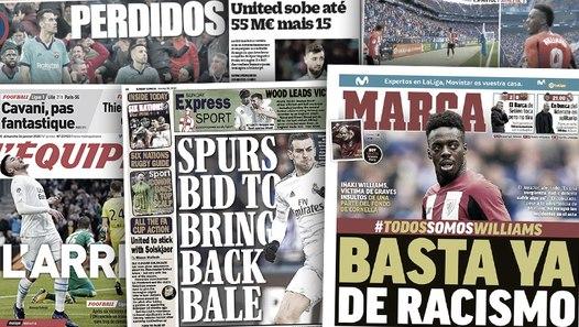 Manchester United revient à la charge pour Bruno Fernandes, l'Espagne proteste face au racisme visant Iñaki Williams
