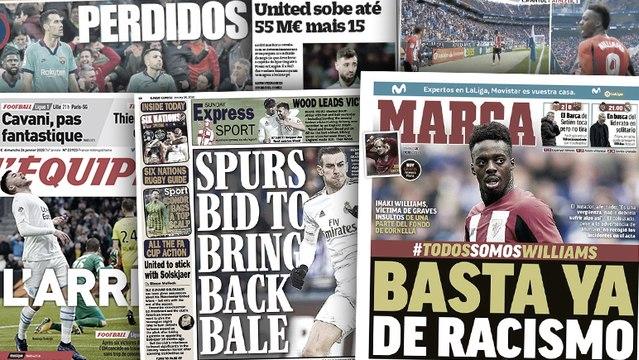 Manchester United revient à la charge pour Bruno Fernandes, l'Espagne proteste face au racisme visant Inaki Williams
