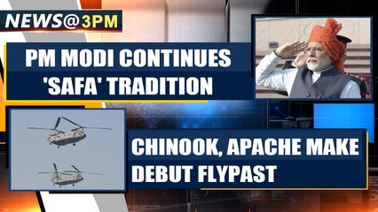71st Republic Day: PM Modi continues with 'Safa' tradition, Chinook & Apache make debut
