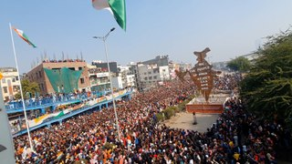 Republic Day celebrations at Shaheen Bagh