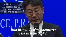"""Le nouveau virus """"pas aussi puissant que le SRAS"""", selon responsable chinois"""