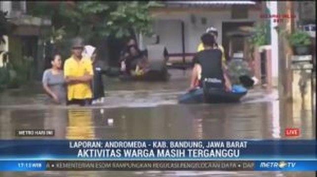 Banjir di Tiga Kecamatan di Bandung Belum Surut