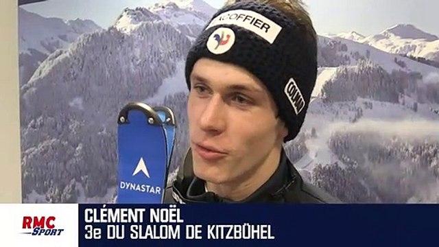 """Slalom (Kitzbühel) : """"On ne peut pas être déçu quand on monte sur le podium"""" souligne Noël"""