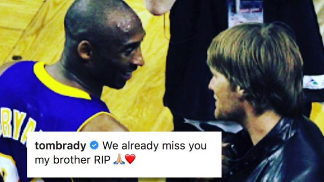 Tom Brady, other athletes react to Kobe Bryant's death