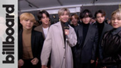 BTS Talk Meeting Ariana Grande, Lil Nas X Collaboration and Tease 'Map of the Soul: 7' | Grammys 2020