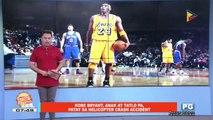 FIFIRAZZI: Kobe Bryant, anak at tatlo pa, patay sa helicopter crash accident
