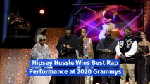 Nipsey Hussle Wins Best Rap Performance at 2020 Grammys