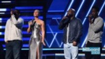 Alicia Keys & Boyz II Men Sing 'It's Hard to Say Goodbye to Yesterday' In Honor of Kobe Bryant | Billboard News