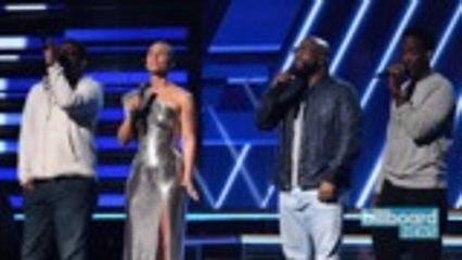 Alicia Keys & Boyz II Men Sing 'It's Hard to Say Goodbye to Yesterday' In Honor of Kobe Bryant | Billboard News