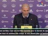 """Zidane: """"Une terrible nouvelle pour le monde du sport"""""""
