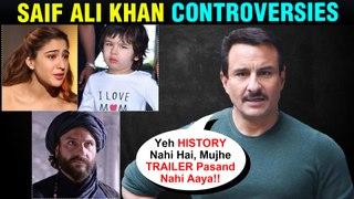 Saif Ali Khan Tanhaji Controversy, Sara Ali Khan's Love Aaj Kal 2, Taimur | All Controversies